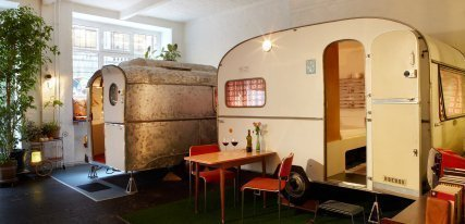 Hotel Hüttenpalast, el encanto de lo alternativo