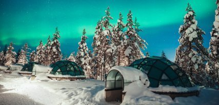 Kakslauttanen, un resort ártico formado de iglús
