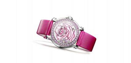 Colección Chopard La vie en rose, relojes femeninos de edición limitada
