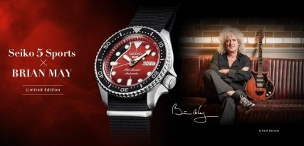 Seiko 5 Sports Red Special, un homenaje a Brian May