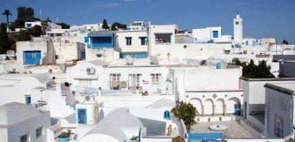 Sidi Bou Said, una perla azul y blanca en el Mediterráneo