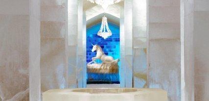 Hotel de hielo Jukkasjärvi en Suecia, el más bello alojamiento helado