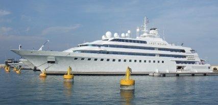 Lady Moura, un yate de lujo valorado en 200 millones de euros