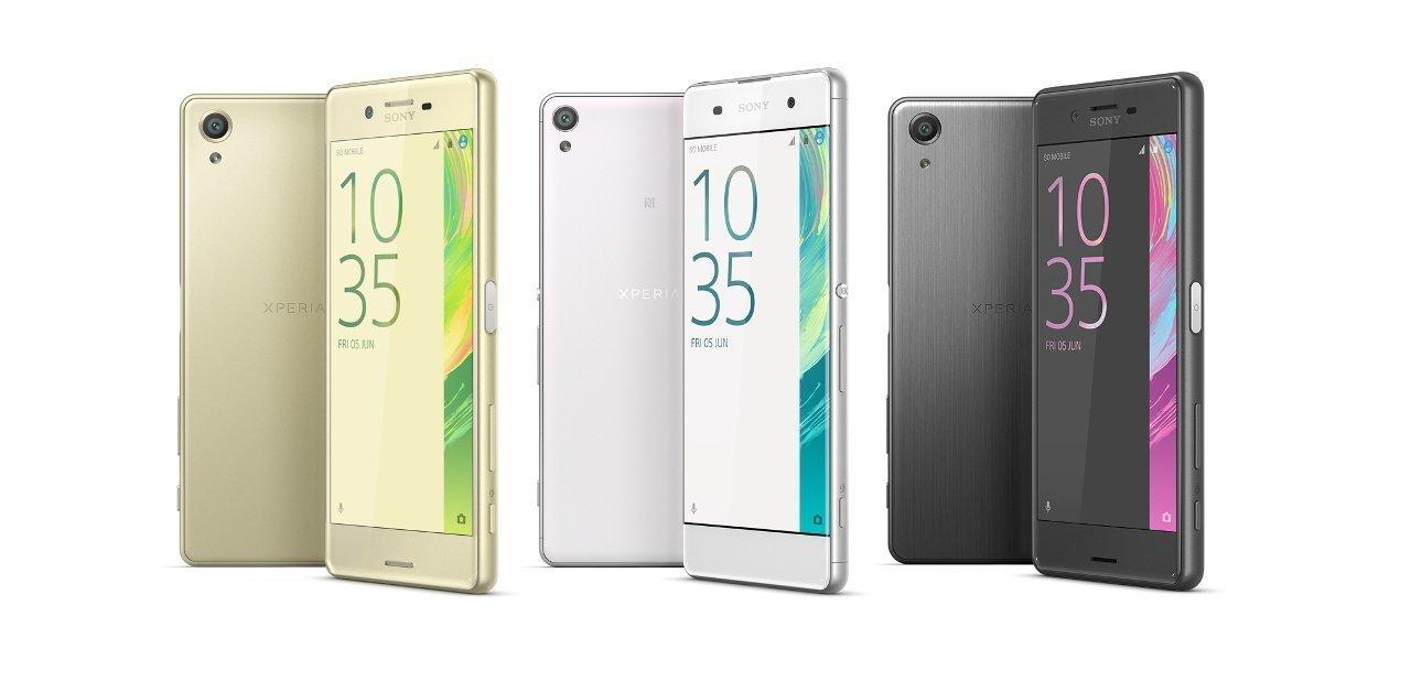 Los teléfonos de la familia Sony Xperia X