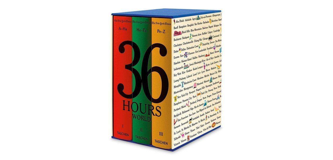 Los tres volúmenes de '36 Hours World'