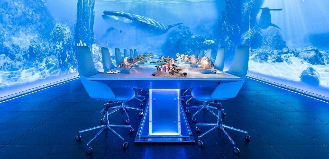 Mesa de Sublimotion con escenario marino
