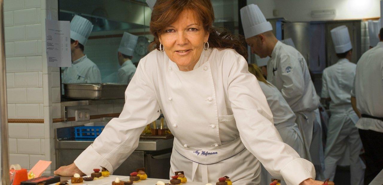 Mey Hofmann en la cocina