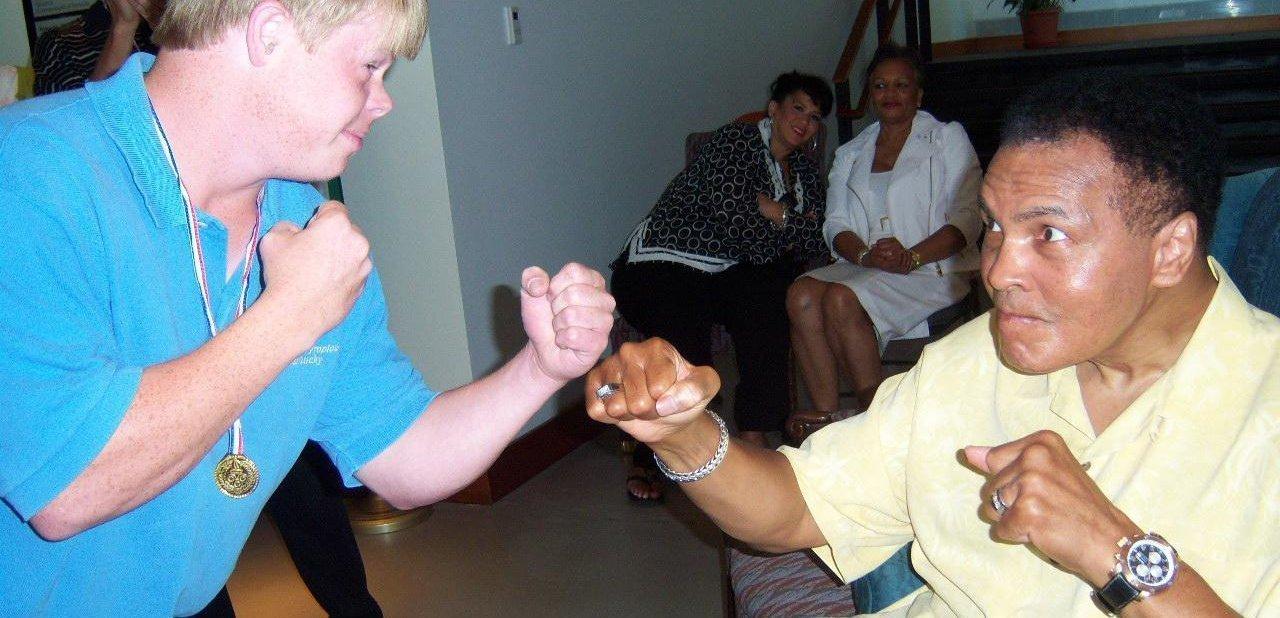 Muhammad Ali en un fotografía de 2010