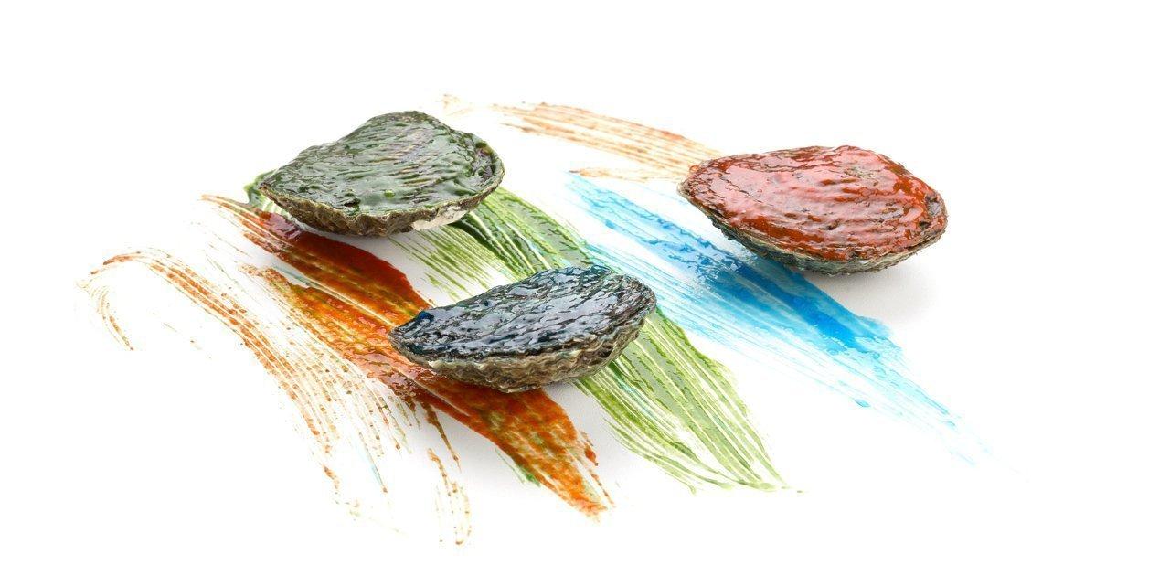 Ostras de colores del restaurante Arzak