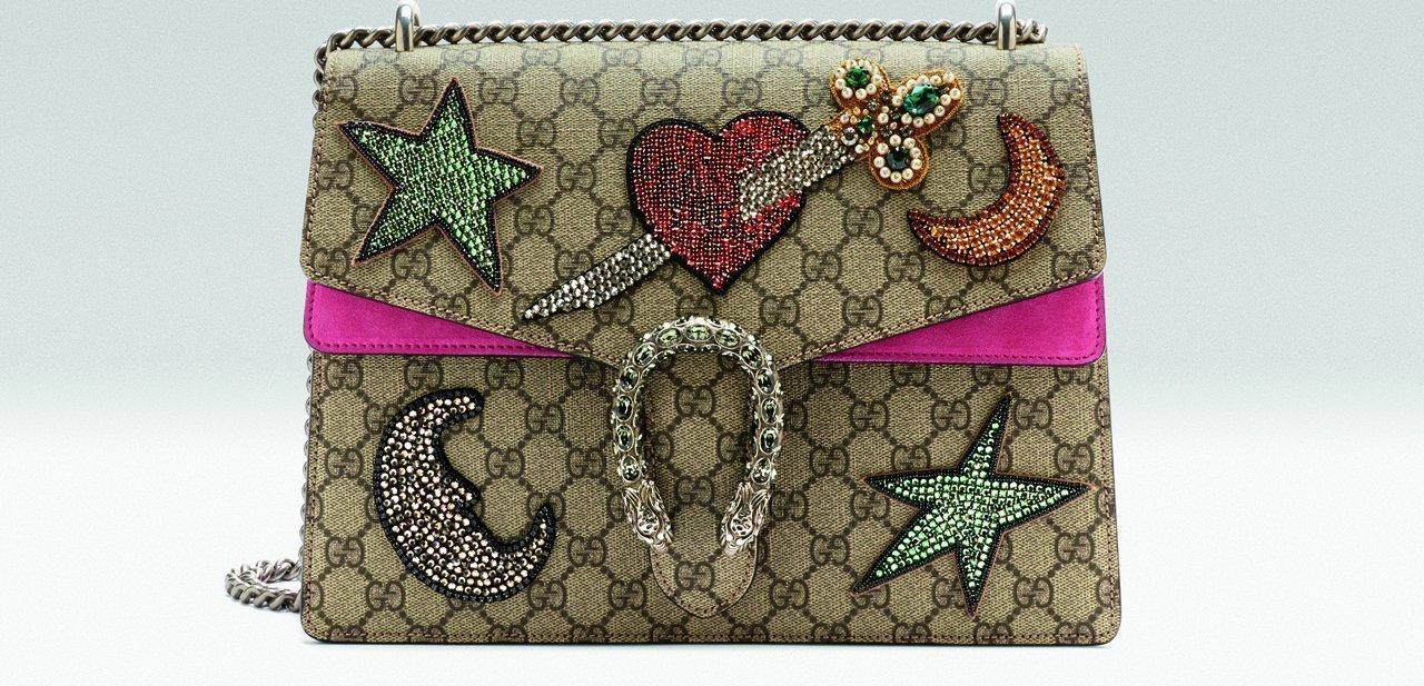 Otro de los bolsos Dionysus de Gucci con apliques bordados
