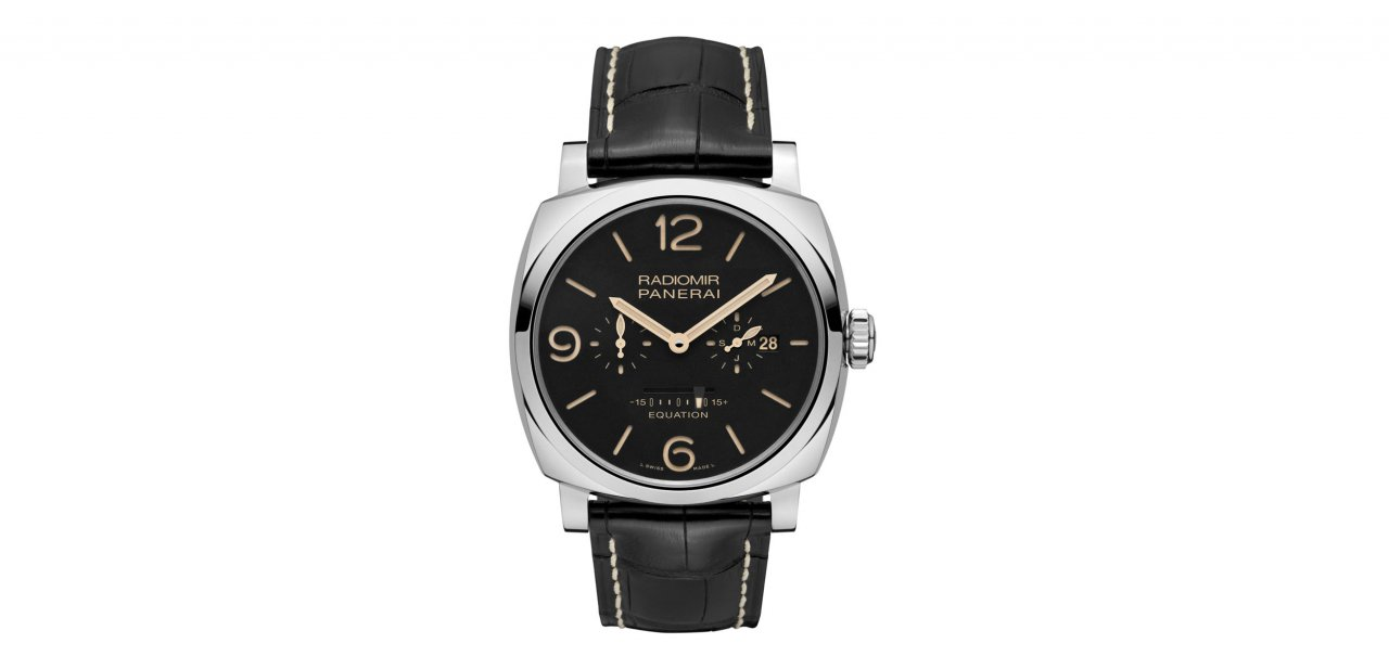 Panerai Radiomir 1940 Equation of Time 8 Days Acciaio visto de frente