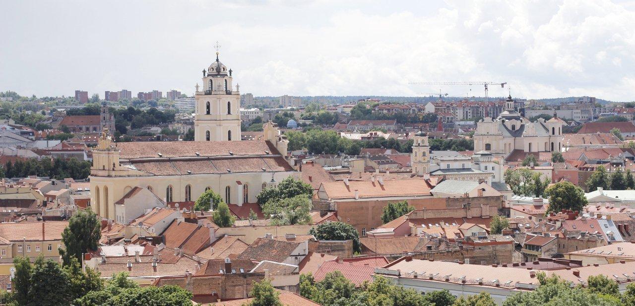 Panorama de la ciudad de Vilna