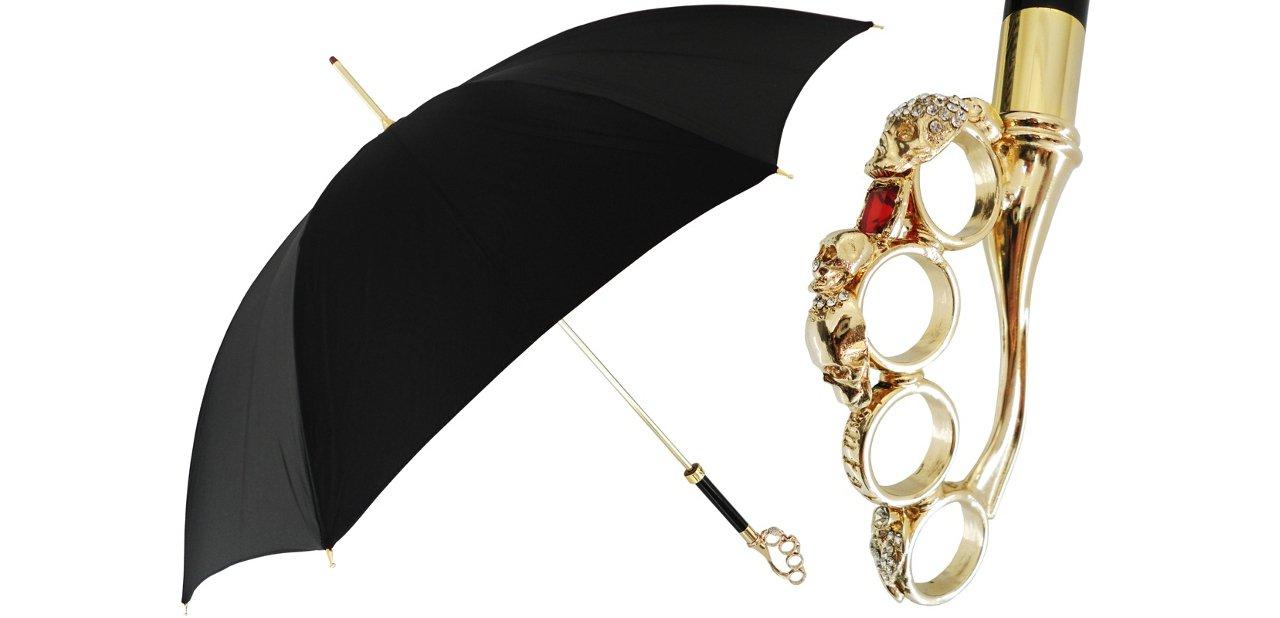 Paraguas italianos Pasotti Mango de anillas