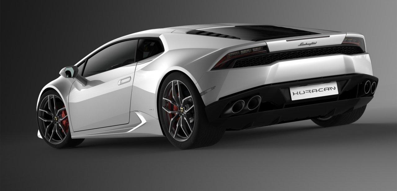 Parte trasera del Lamborghini Huracán LP 610-4