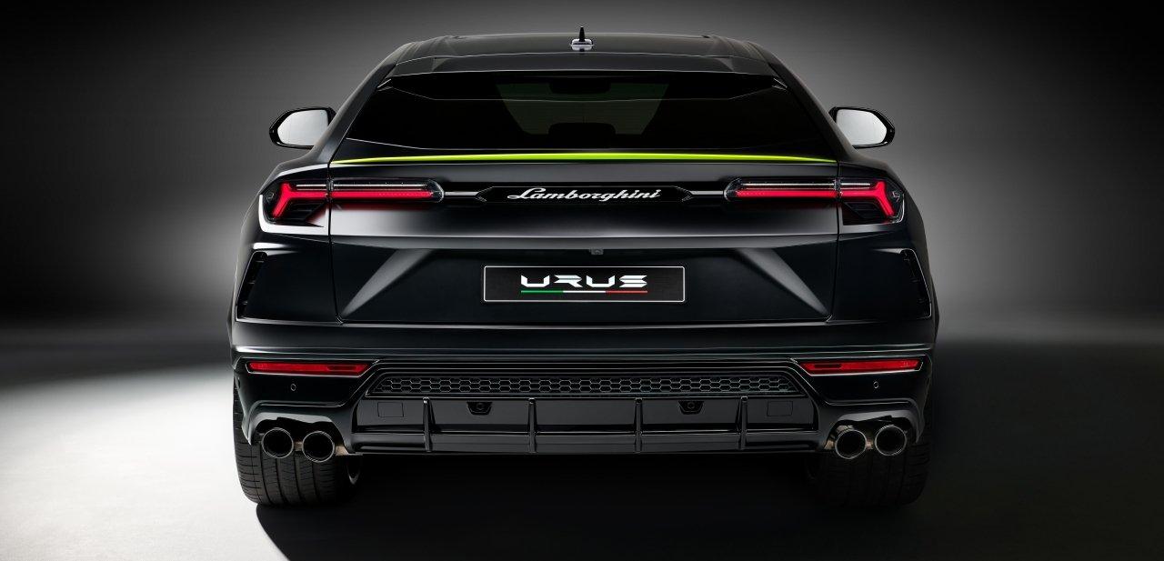 Parte trasera Lamborghini Urus Graphite Capsule
