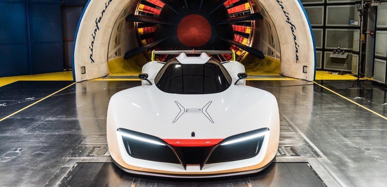 Pininfarina H2 Speed  en el túnel de viento