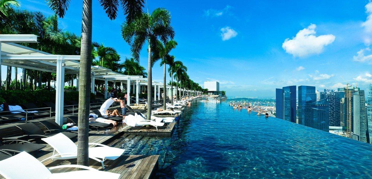 Piscina del Sands Sky Park del Marina Bay Sands de Singapur