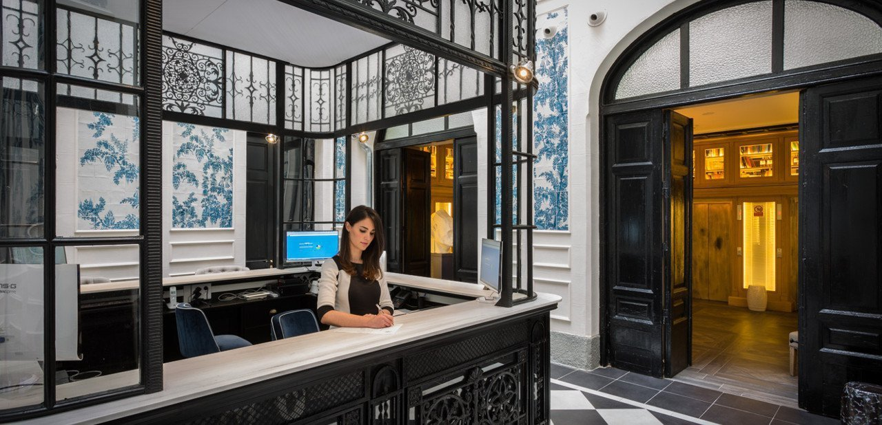 Recepción del Only YOU Hotel en Madrid