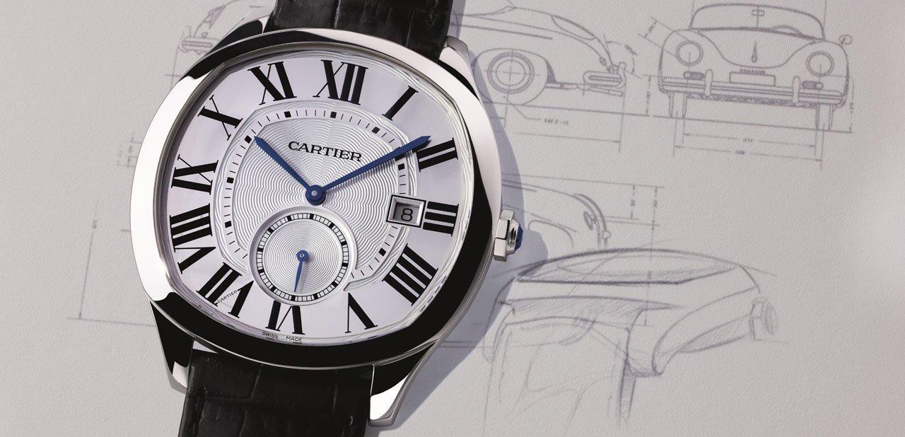 Reloj Cartier Drive en una imagen promocional