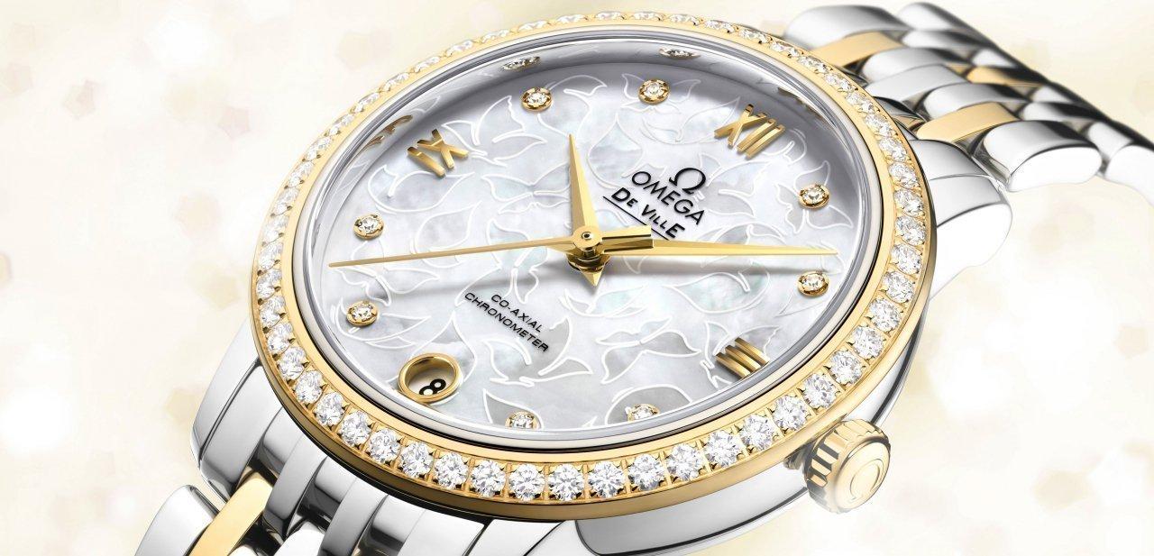 Reloj Omega De Ville Prestige 'Butterfly' en oro y acero