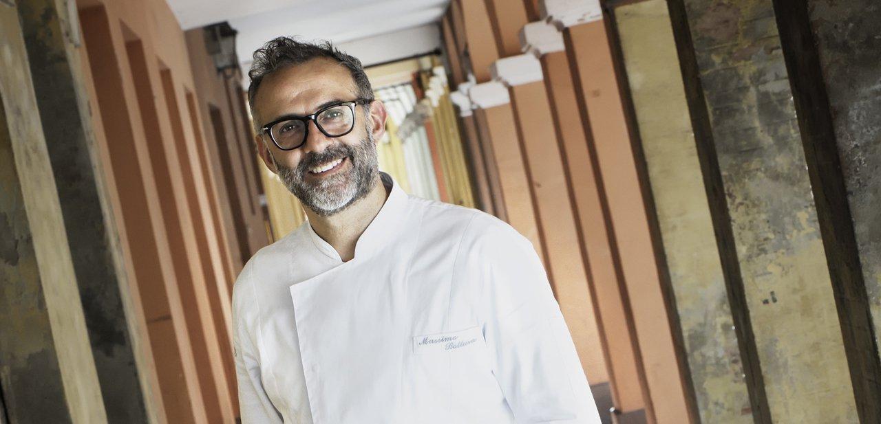 Retrato de Massimo Bottura, chef de Osteria Francescana
