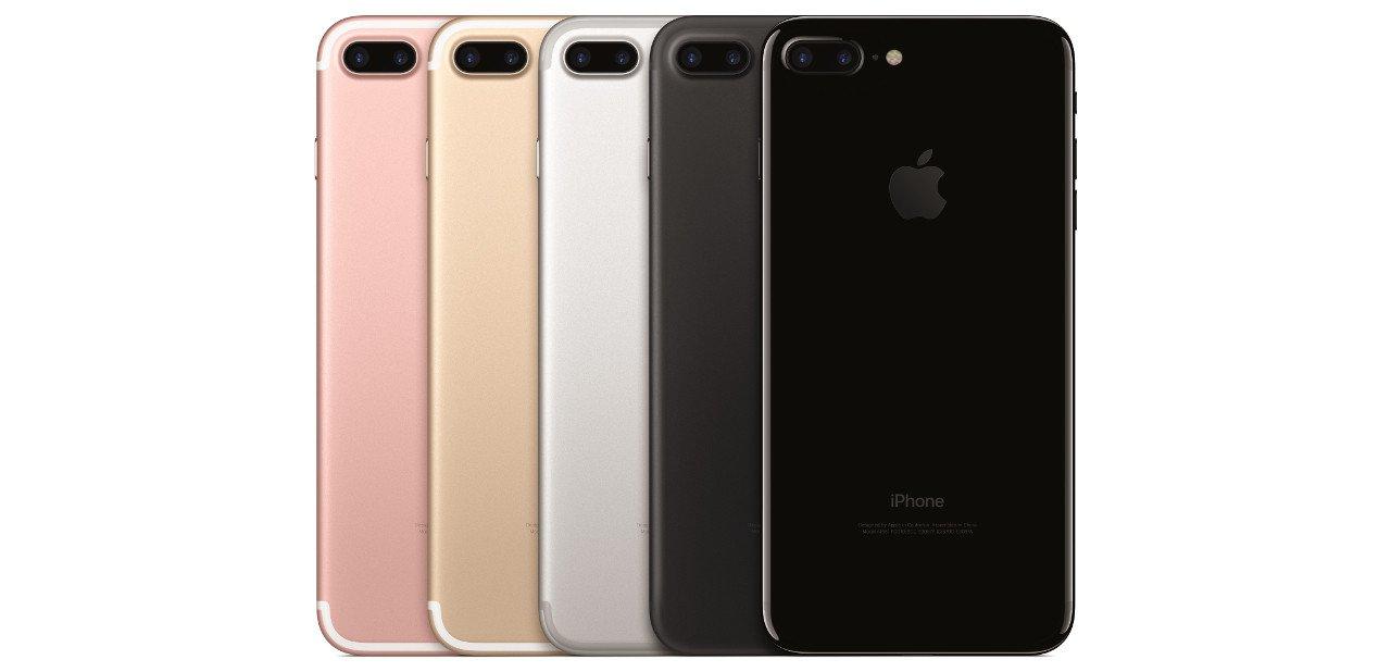 Selección de colores para el iPhone 7 Plus 256 GB