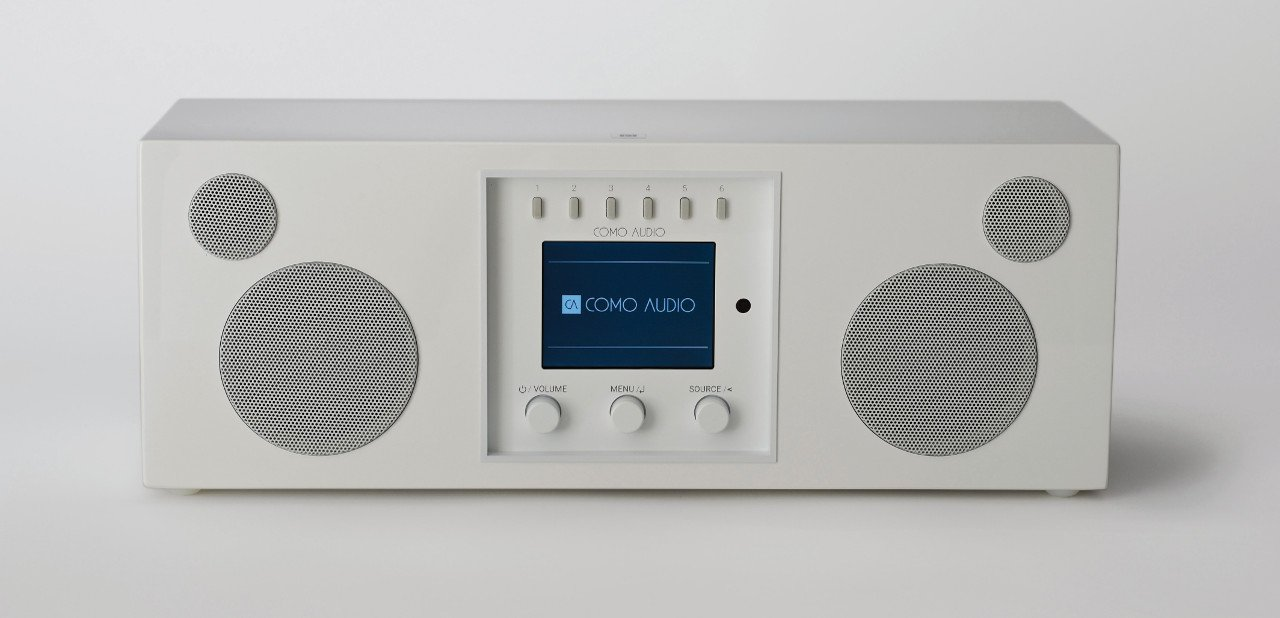 Sistema de sonido Duetto con acabado blanco
