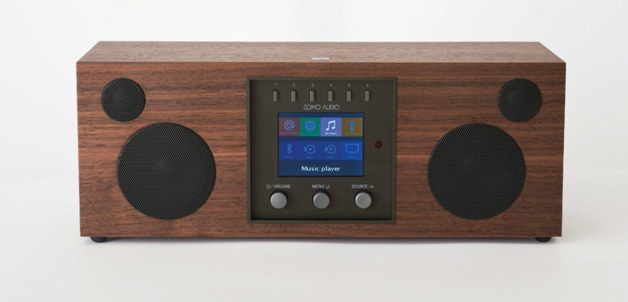 Sistema de sonido Duetto con acabado en madera