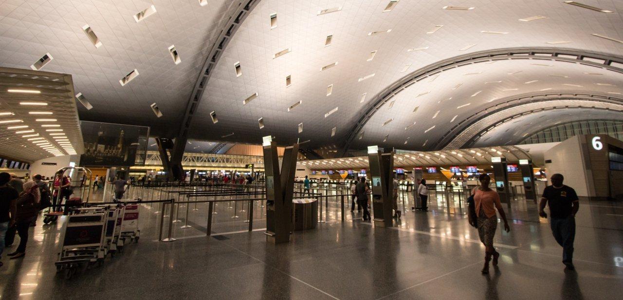 Terminal aeropuerto internacional Hamad Doha Qatar