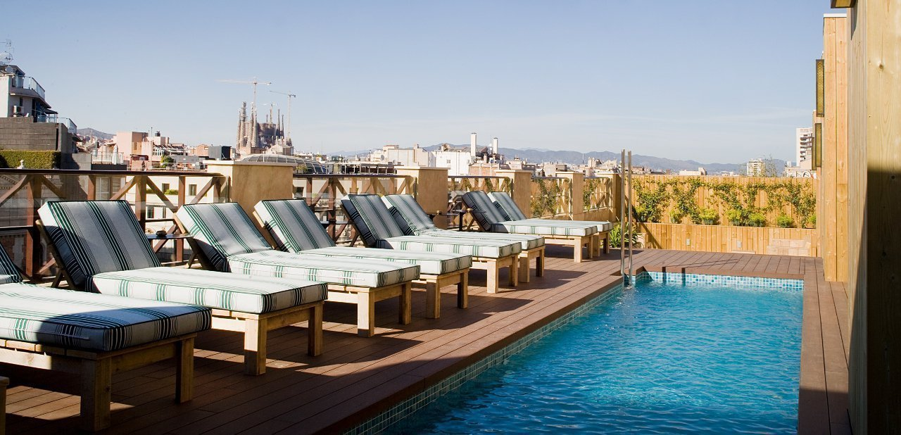 Terraza de Cotton House Hotel, Autograph Collection