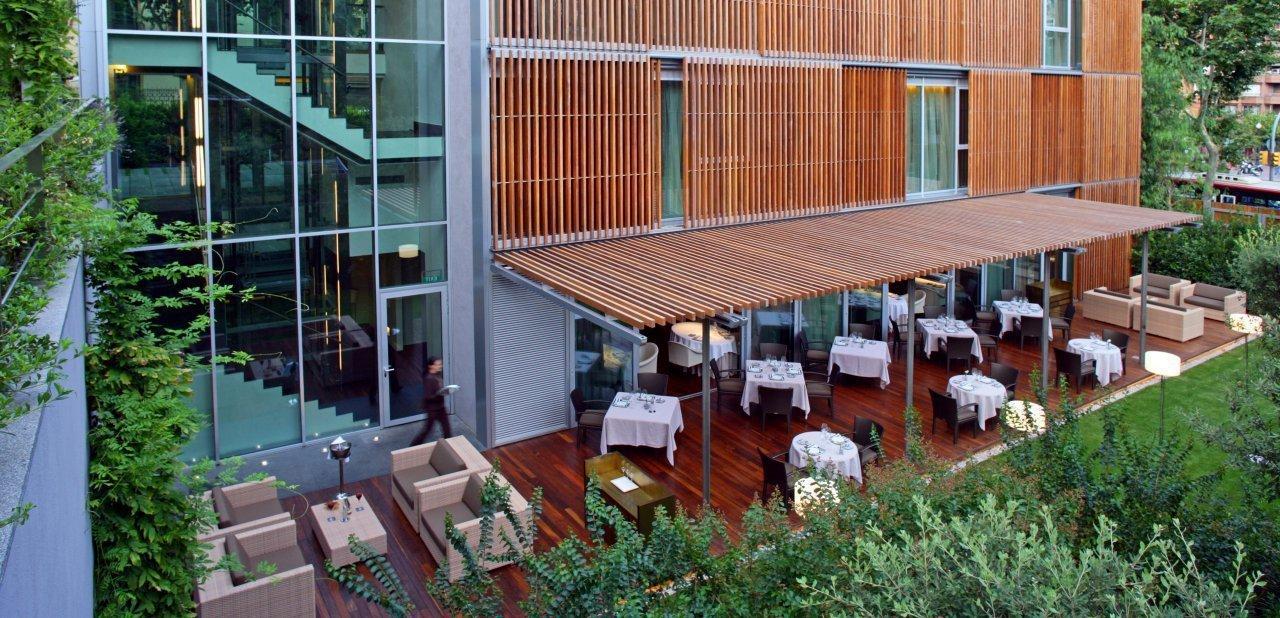 Terraza del restaurante ABaC