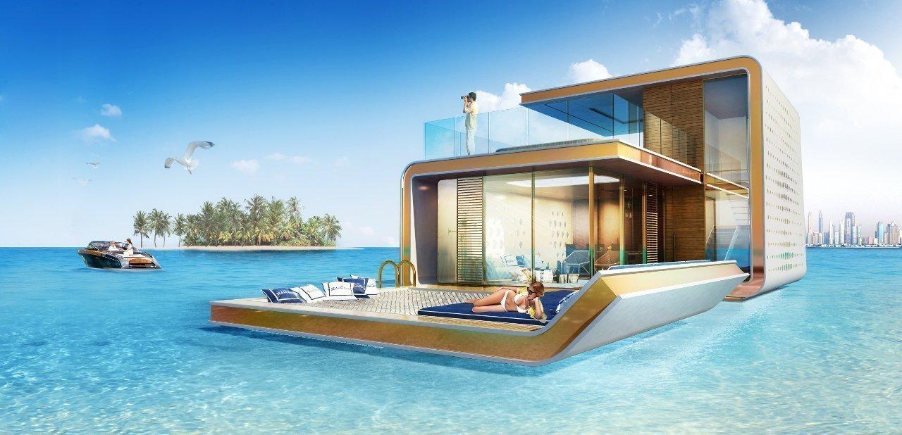 The Floating Seahorse, una casa bajo el mar