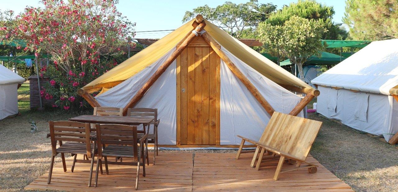 Tienda de acampar Sabana, de inspiración africana