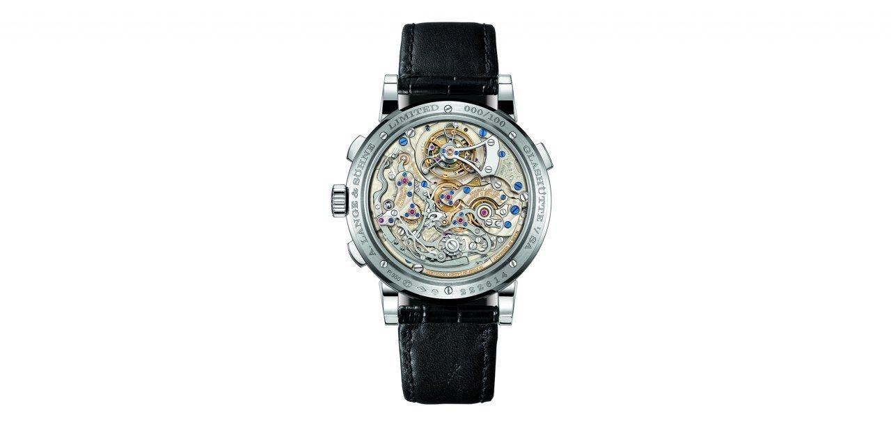 Trasera del reloj A. Lange & Söhne Datograph Perpetual Tourbillon