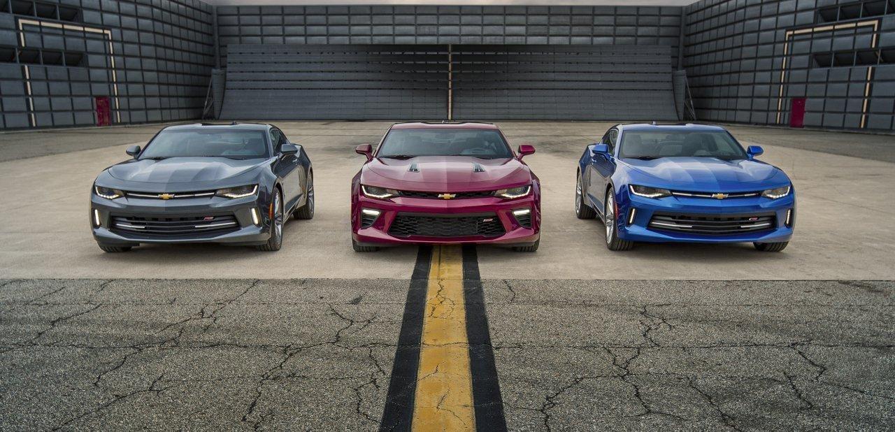 Tres Camaro de la sexta generación