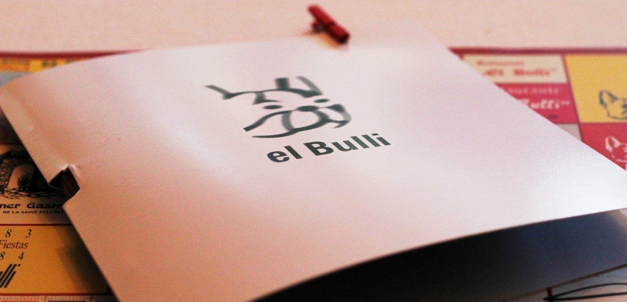 Una carta del restaurante elBulli de Ferran Adrià