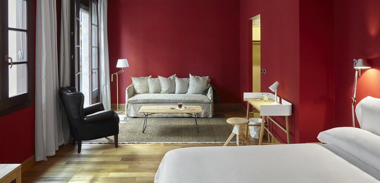 Una de las habitaciones de Casa Camper Barcelona
