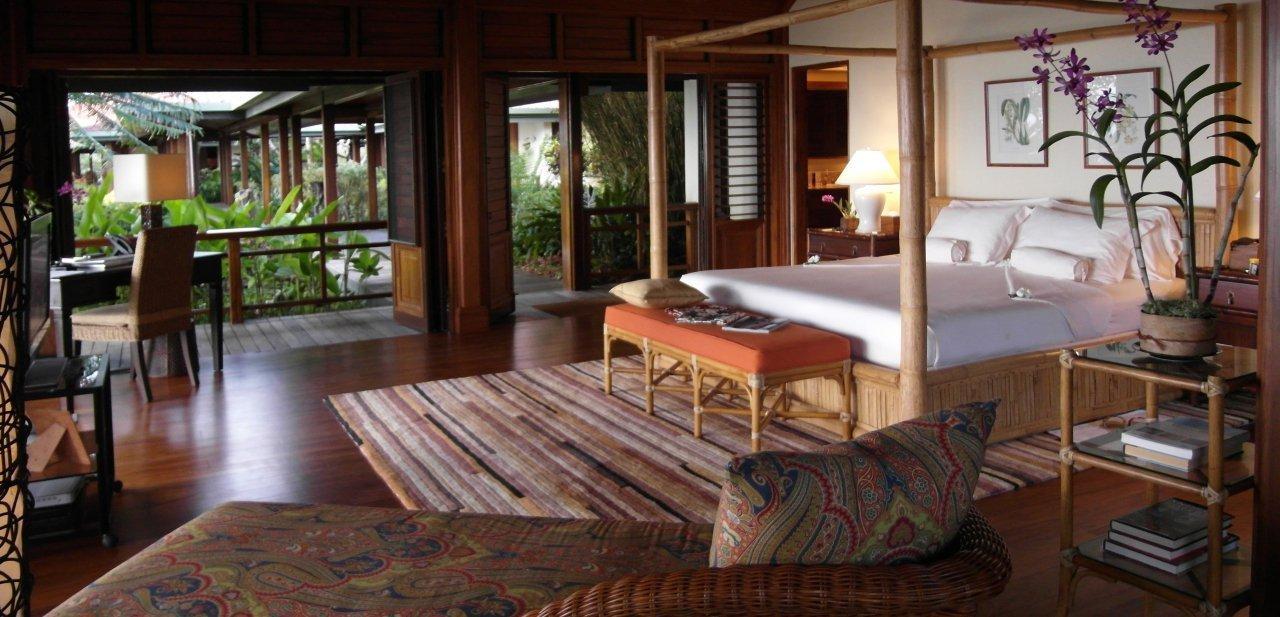 Una de las habitaciones del completo de Wakaya