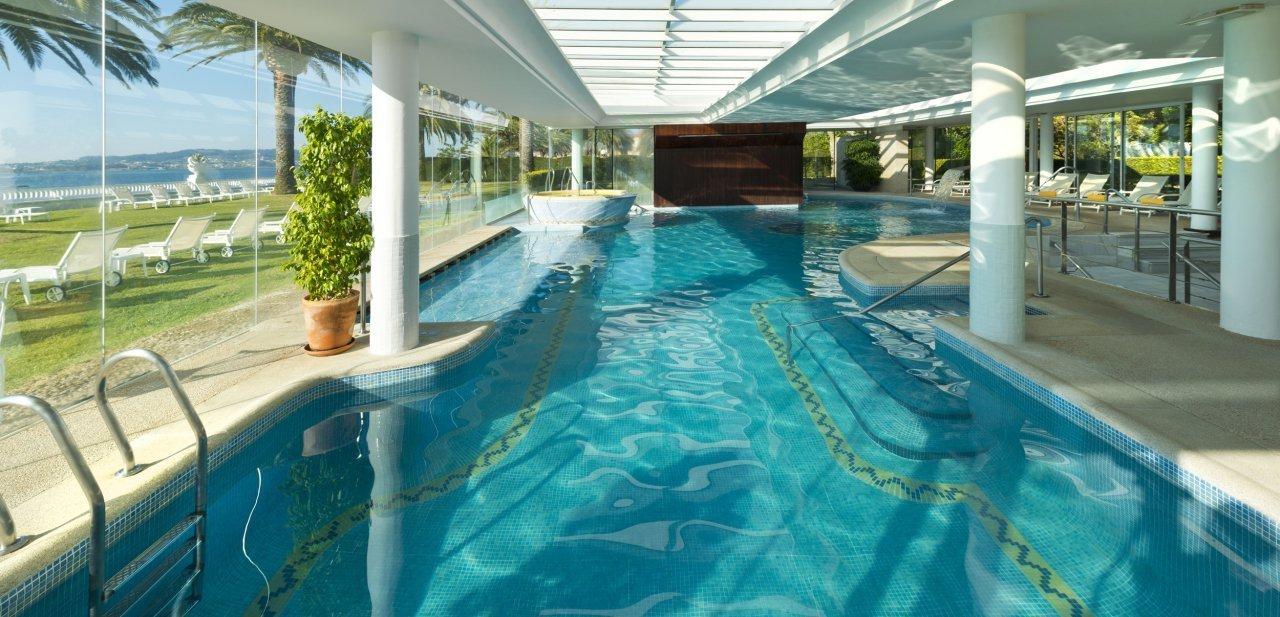 Una de las piscinas del Gran Hotel La Toja