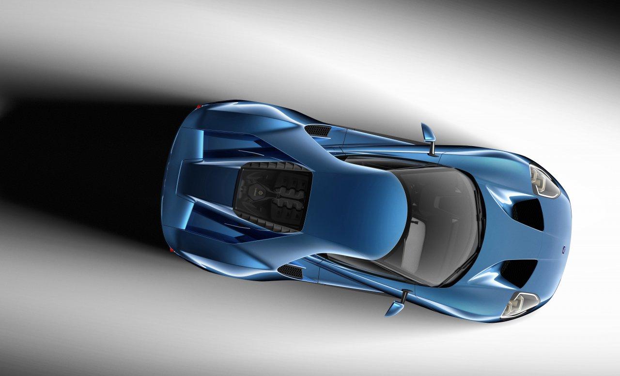 Una fotografía cenital del nuevo Ford GT