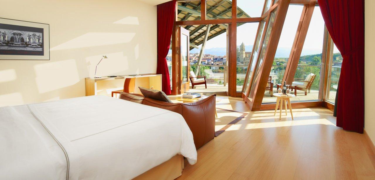 Una habitación del hotel Marqués de Riscal