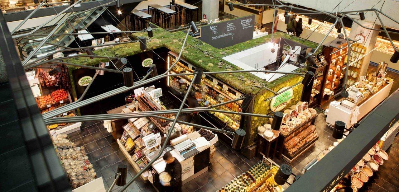 Una planta del Mercado de San Antón