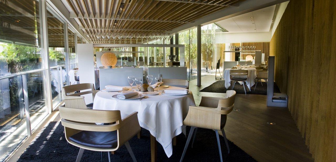 Una vista del salón del restaurante