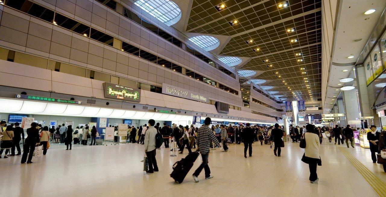 Una zona de facturación del Aeropuerto Internacional de Haneda
