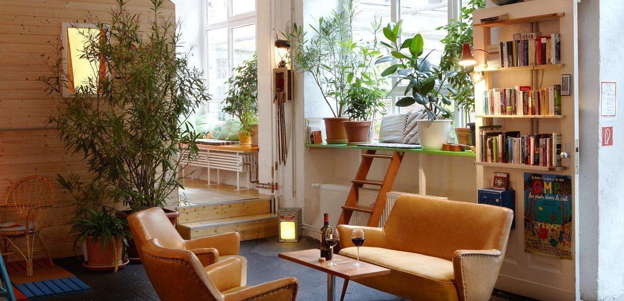 Uno de los espacios del hotel Hüttenpalast