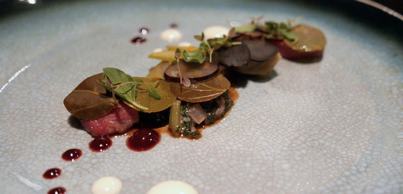 Uno de los platos de Grant Achatz en el restaurante Alinea