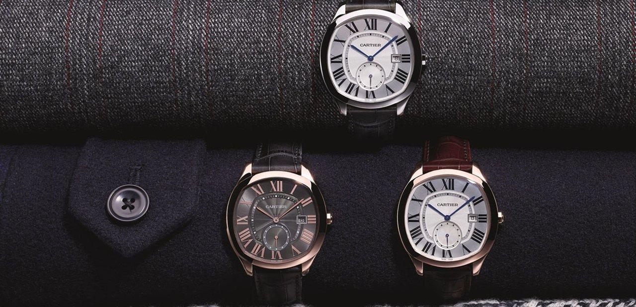 Varios modelos del reloj Cartier Drive