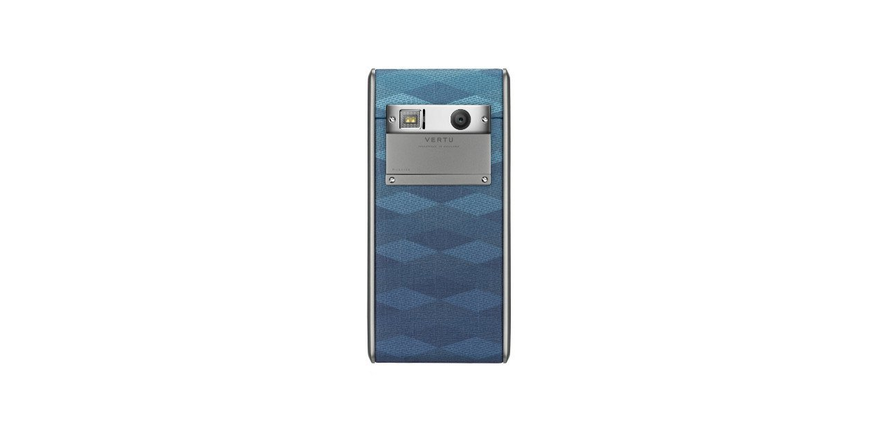 Vertu Aster Chevron de color azul