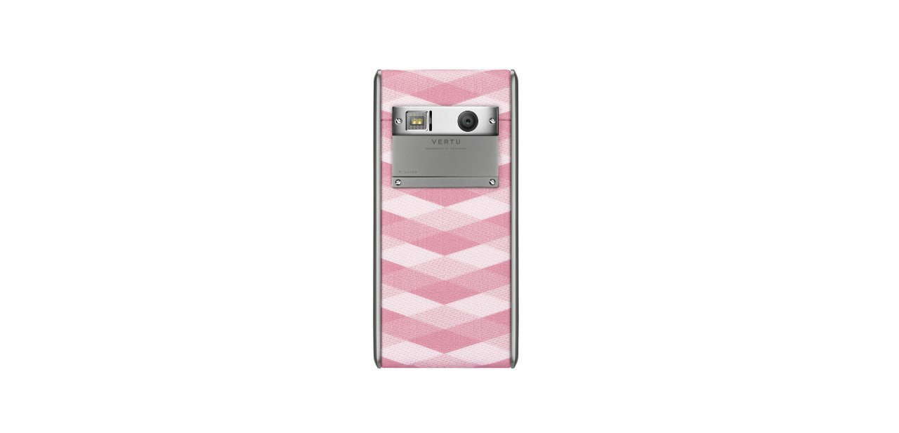 Vertu Aster Chevron de color rosa