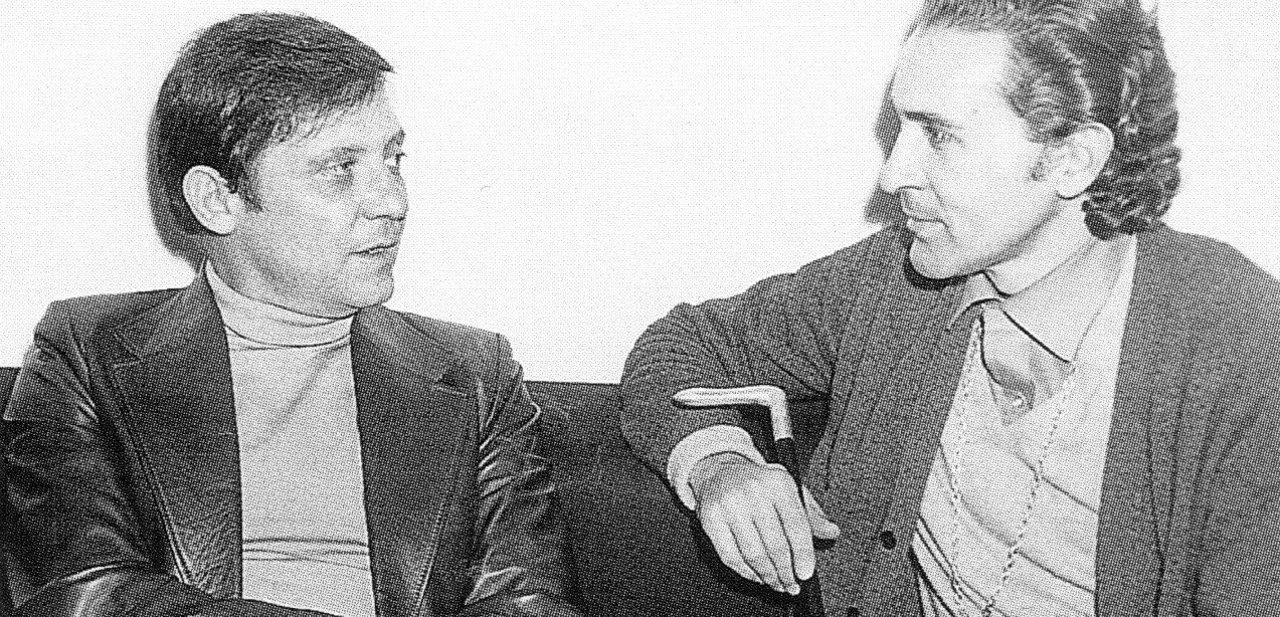 Vicente Vela con Antonio Gala